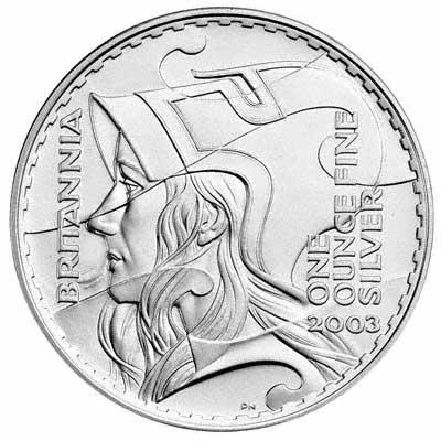 Type Set Of Uk Silver Britannia Bullion Coins