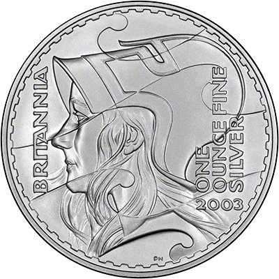 Reverse of 2003 Proof Britannias