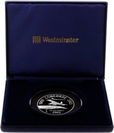 2003 Concorde's Last Flight Silver Medallion in Presentation Box