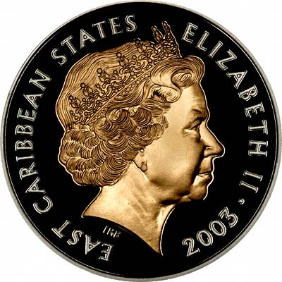 Obverse of 2003 East Caribbean States 10 Dollars