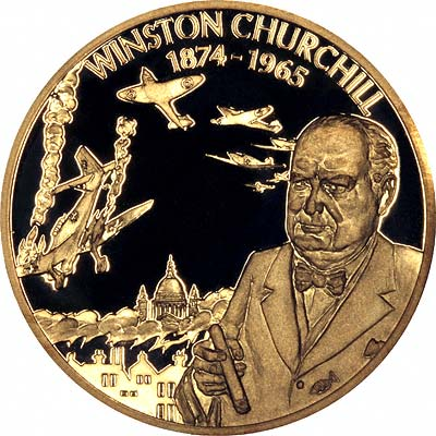 Sir Winston Churchill on Reverse of 2003 East Caribbean States 2 Dollars