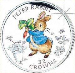 2003 Gibraltar Peter Rabbit 1 Kilo Silver Coin