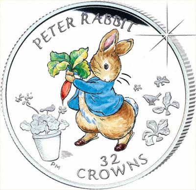 2003 Gibraltar 1 Kilo Silver Proof Peter Rabbit Coin