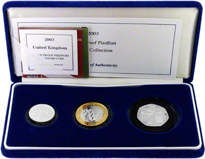 2003 Silver Proof Three Coin Set in Presentation Box