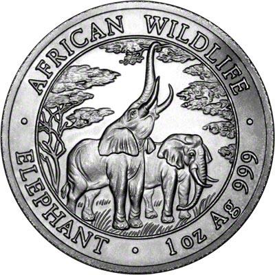 2003 Zambia One Ounce Elephant 5 000 Kwacha