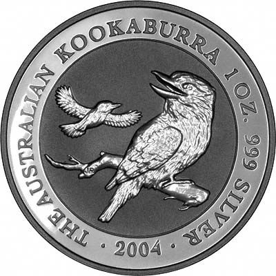 Reverse of 2004 One Ounce Silver Kookaburra