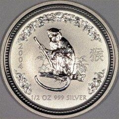 2004 Australian Half Ounce Silver Monkey