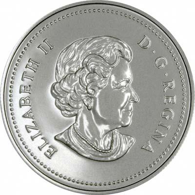 Obverse of 2004 Canada Silver Dollar