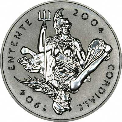 Obverse of 2004 UK Platinum Crown