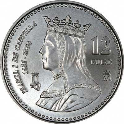 Spanish €12 Silver Commemorative Coins