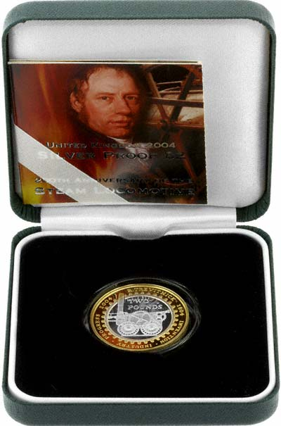 2004 Silver Proof Two Pound Coin in Presentation Box