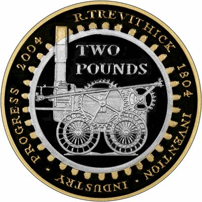 Reverse of 2004 2004 Silver Proof Two Pound Coin