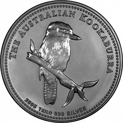 2005 Australian One Kilo Silver Kookaburra Coins