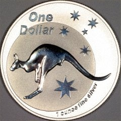Reverse of 2005 Australian Silver Kangaroo