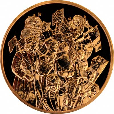 Reverse of 2005 Churchill Gold Medal by The Royal Mint