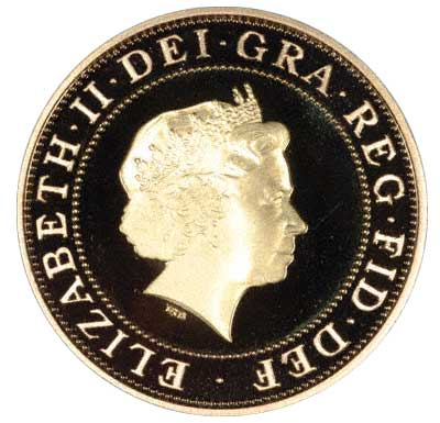 Obverse of 2005 £2 Coin