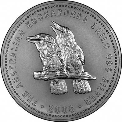 2006 Australian One Kilo Silver Kookaburra Coins