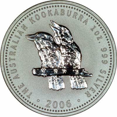 Reverse of 2006 Australian 1 Ounce Silver Kookaburra