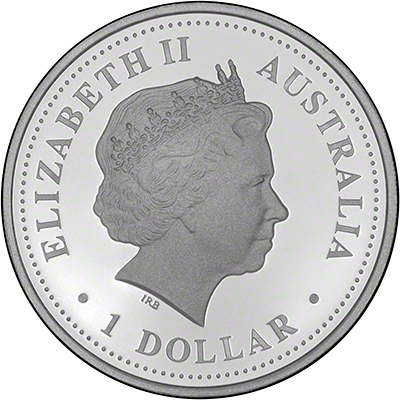 obverse of 2006 50th anniversary of dame edna everage silver proof one dollar. Black Bedroom Furniture Sets. Home Design Ideas