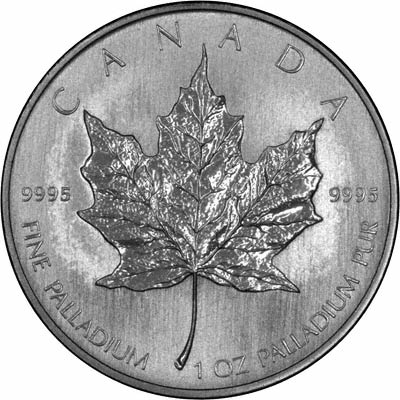 Reverse of 2006 Canada One Ounce Palladium Maple