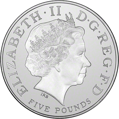 Obverse of 2006 Queens 80th Birthday £5 Crown