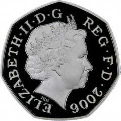 Obverse of Fifty Pence