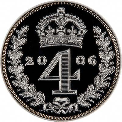 Reverse of 2006 Maundy Fourpence