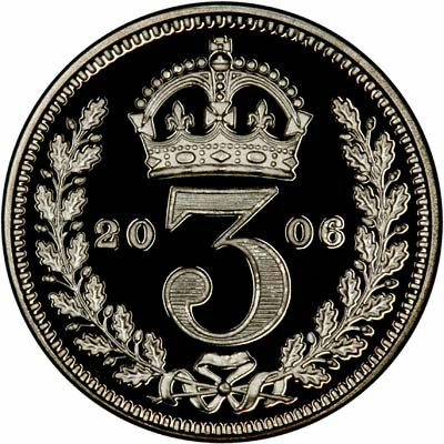 Reverse of Silver Proof Maundy Threepence