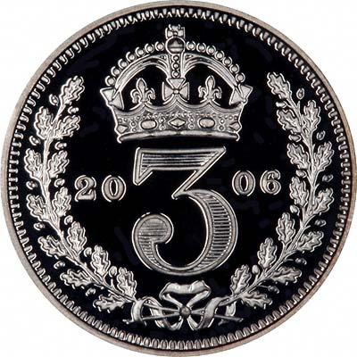 Reverse of 2006 Maundy Threepence