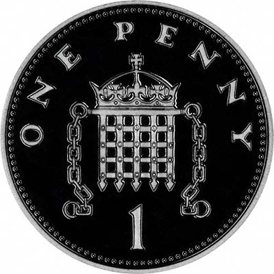 Portcullis on Reverse of 2006 Silver Proof Penny