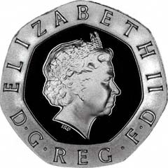Obverse of Twenty Pence