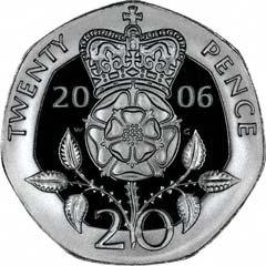 Reverse of Twenty Pence