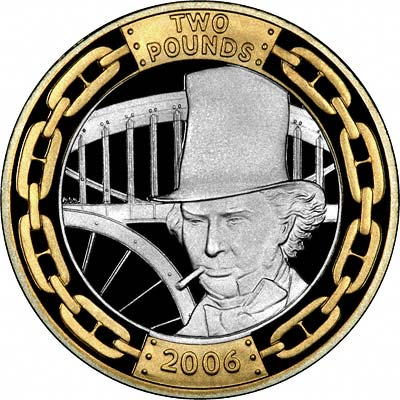 Reverse of 2006 Brunel The Man Two Pounds