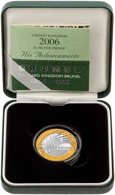 2006 Brunel the Man Silver Proof Two Pound Coin in Presentation Box
