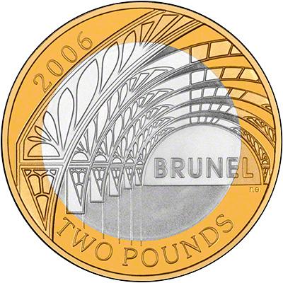 2006 Brunel His Achievements Silver Proof Two Pound Coin