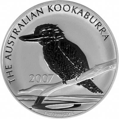 2007 Australian One Kilo Silver Kookaburra