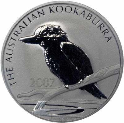Reverse of 2007 Australian 1 Ounce Silver Kookaburra