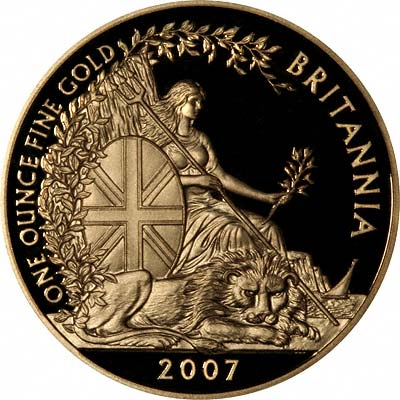 New 2007 Seated Britannia with Lion