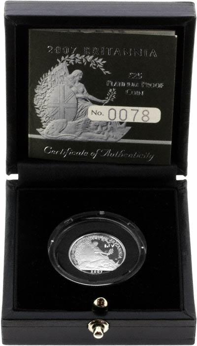 2007 Proof Platinum Quarter Proof Britannia in Presentation Box