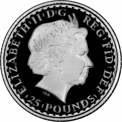 Reverse of 2007 Proof Quarter Ounce Platinum Britannia