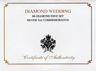 2007 Diamond Wedding Anniversary Certificate