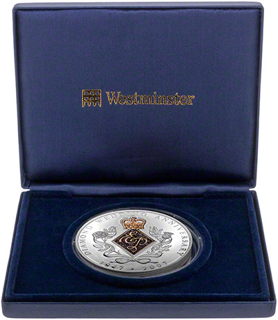 Diamond Wedding Anniversary Medallion in Presentatin Box