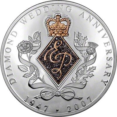 Reverse of Diamond Wedding Anniversary Medallion