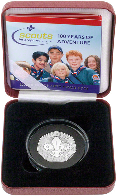 2007 Silver Proof Fifty Pence in Presentation Box