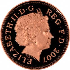 Obverse of One Penny