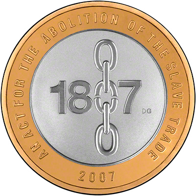 Reverse of 2007 Abolition of Slave Trade Two Pound Coins