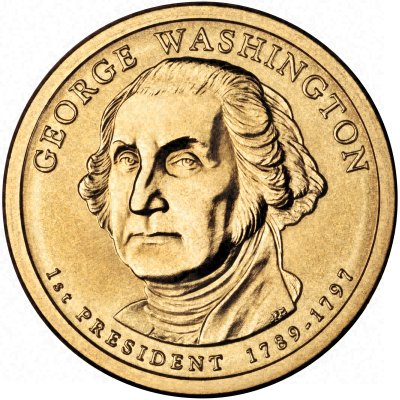 George Washington on Obverse of New 2007 USA $1 Presidential Series