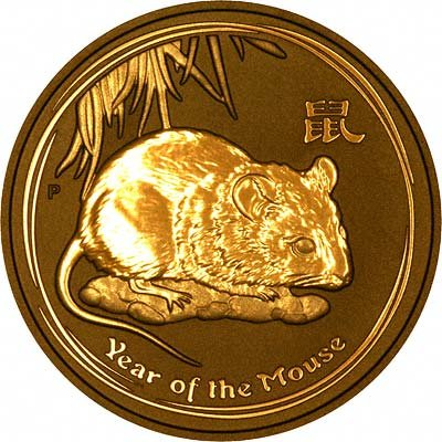Reverse of 2008 Gold Year of the Rat or Mouse Bullion Coin