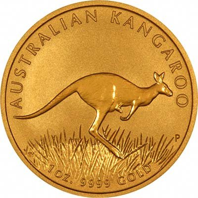 Reverse of 2008 Australian One Ounce Gold Nugget Bullion Coin