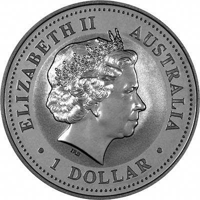 Obverse of 2006 Australian 1 Ounce Silver Kookaburra